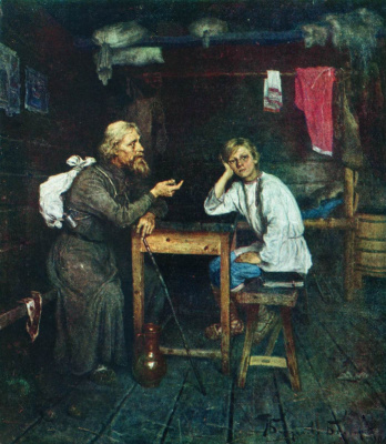 Nikolay Petrovich Bogdanov-Belsky. Future monk