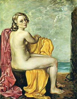 Giorgio de Chirico. Seated Nude Woman