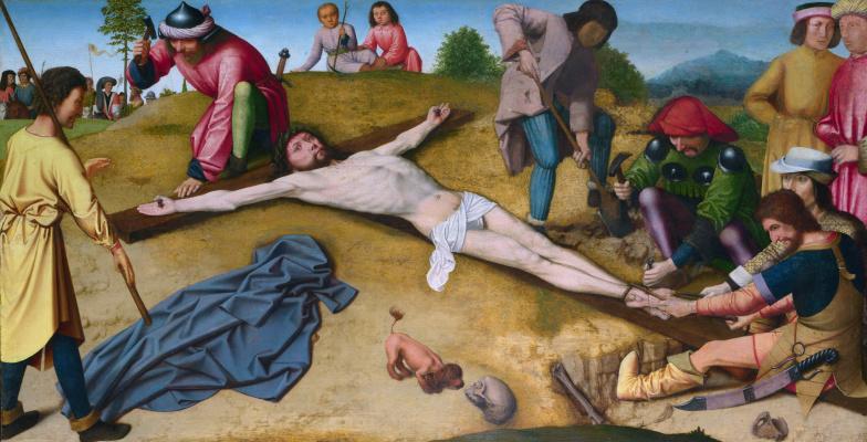 David Gerard. Christ nailed to the cross