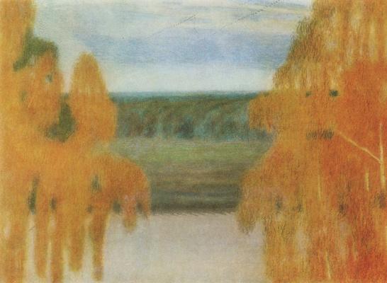Victor Elpidiforovich Borisov-Musatov. Autumn song