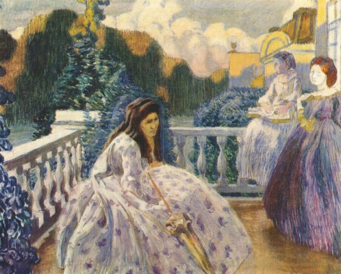 Victor Elpidiforovich Borisov-Musatov. Three ladies on the terrace