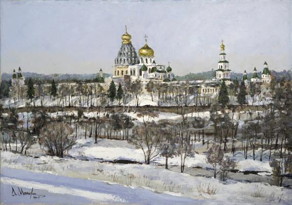 "Alexander Matyukhin. ""It melts. April"" The New Jerusalem. Istra"