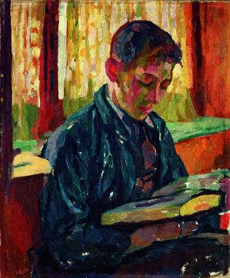 Giovanni Giacometti. Alberto reads
