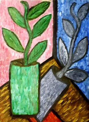 "Tatyana Turanova. Still life ""In the studio of Philip Glass"""