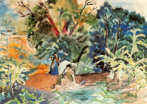 Рафаэль Сабалета. Фермеры в саду