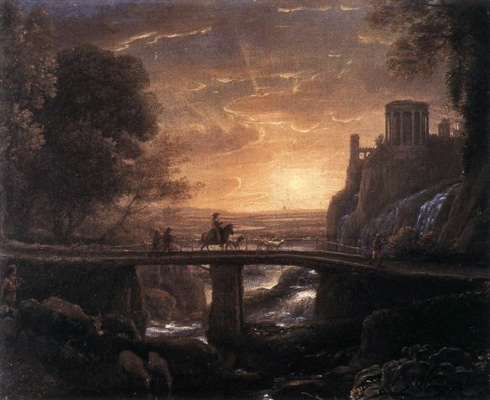 Claude Lorrain. Imaginary view of Tivoli
