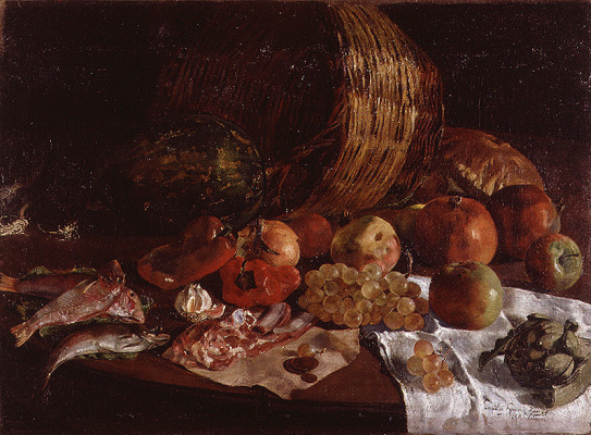 Леопольдо Гарсия Рамон. Натюрморт с виноградом