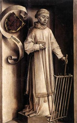 Рогир ван дер Вейден. Портрет-диптих Лорана Фроймонта. Фрагмент обратной стороны
