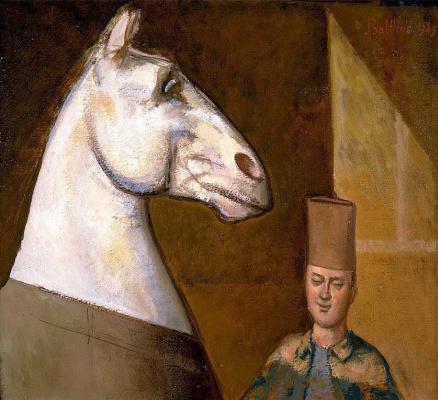 Balthus (Balthasar Klossovsky de Rola). Moroccan horse groom and his horse