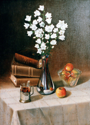 Vladimir Vasilyevich Abaimov. Still-life with the Campanellas