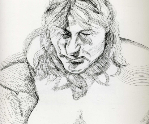 Lucien Freud. Closed eyes