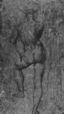 Raphael Sanzio. Study for the frescoes of the Loggia of psyche. Standing Nude
