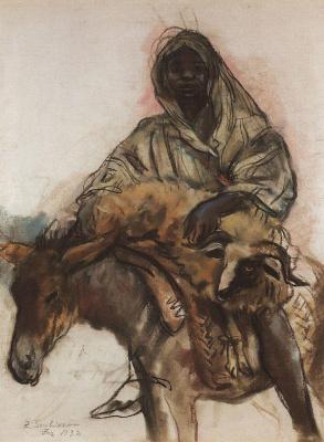 Zinaida Serebryakova. Arab on a donkey