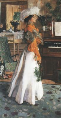 Юзеф Мехоффер. Портрет жены художника