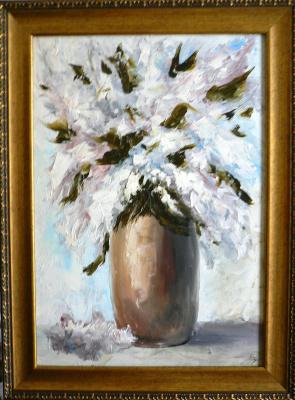 Sergei Nikolayevich Khodorenko-Zatonsky. Lilacs in a clay vase