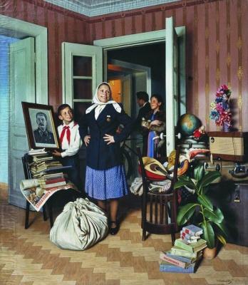 Alexander Ivanovich Laktionov. Into a new apartment