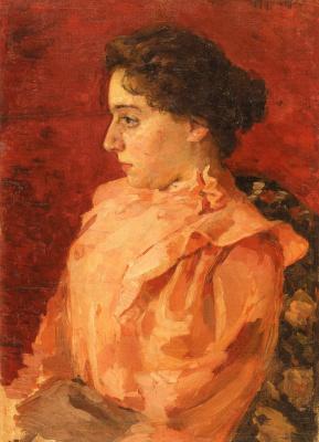 Alexander Murashko. The girl in the pink blouse. Portrait Of Z. Akinini