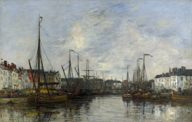 Eugene Boudin. The Harbour Of Brussels