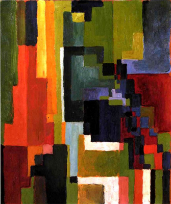 August Macke. Colored shapes