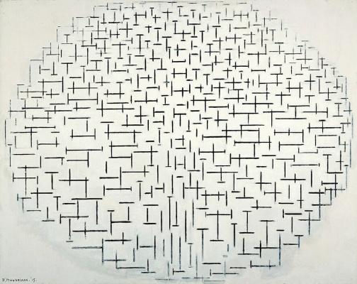 Piet Mondrian. Composition No. 10: pier and ocean.