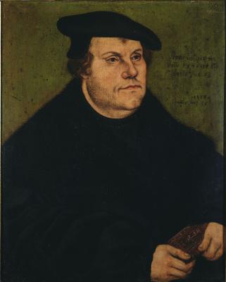 Лукас Кранах Старший. Портрет Мартина Лютера