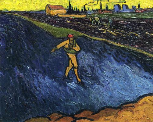 Винсент Ван Гог. Сеятель, с видом на окрестности Арля