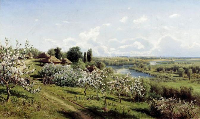 Nikolay Aleksandrovich Sergeev. Apple trees in bloom. In The Ukraine