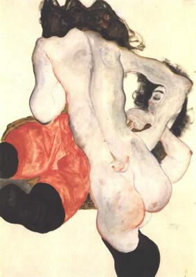 Egon Schiele. Two girls