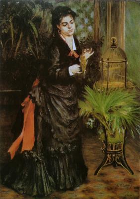 Пьер Огюст Ренуар. Женщина с попугаем