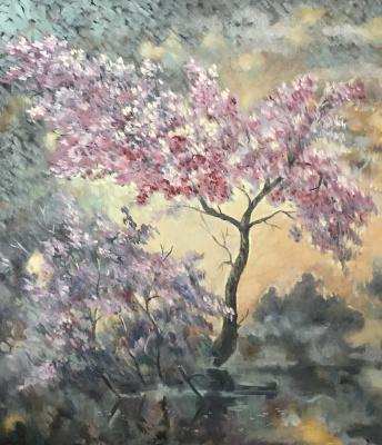 Yuri Gennadievich Piskunov. Sakura blooms