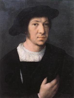 Bernart Van Orley. A man in a black hat