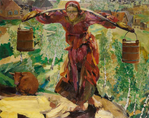 Filipp Andreevich Malyavin. Woman carrying water