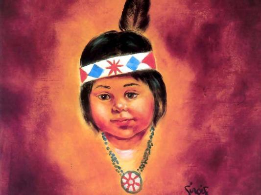 Bob Ross. Indian girl