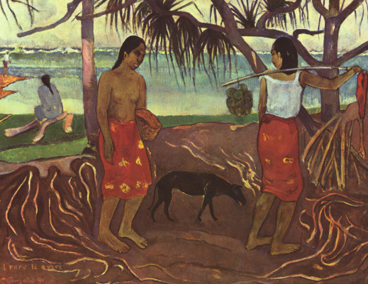 Paul Gauguin. Under the shade of a tree