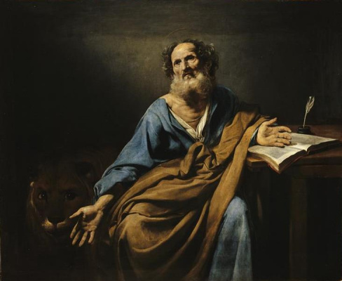 Valentin de Boulogne. The Apostle Mark