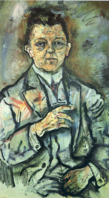 Oskar Kokoschka. A man in a suit
