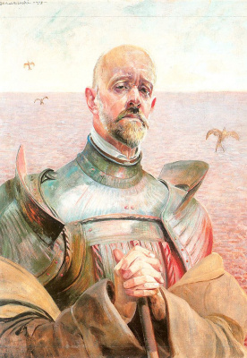 Jacek Malchevsky. Self portrait in armor