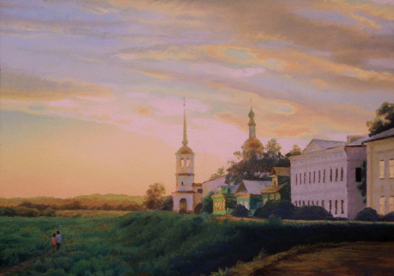 Igor Lemekhov. Sunset in Ustyug
