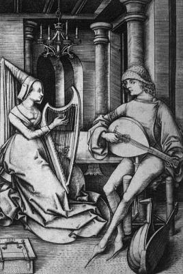 Israel van Mekenem. Lute and harp. Duo