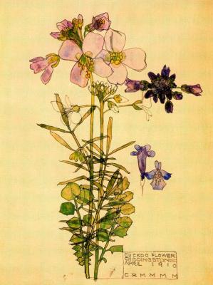 Charles Rennie Mac. Floral motif 8