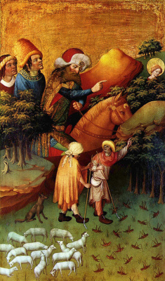 Master Franke. The Altar Of St. Barbara. Snippet: the miracle of the locusts
