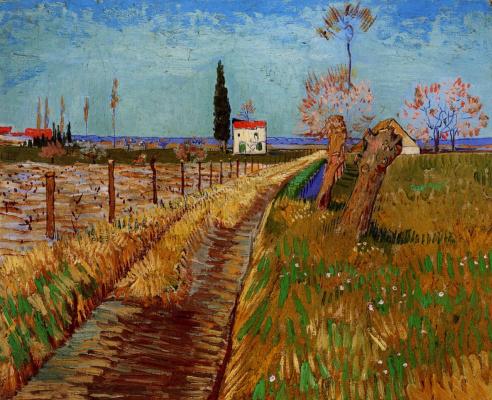Винсент Ван Гог. Тропинка в поле с ивами