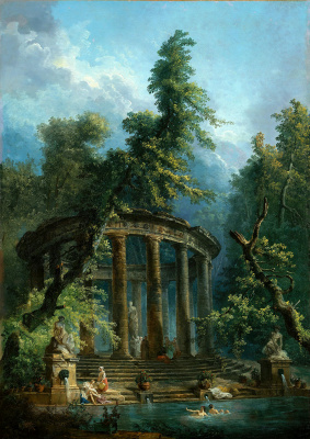 Hubert Robert. Pool for swimming