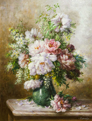 Savely Kamsky. Bouquet of peonies