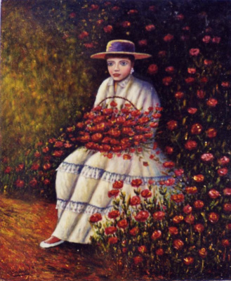 Франсиско Садорнил Сантамария. Девушка в цветах