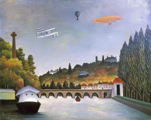 Анри Руссо. Вид моста Севр и холмов Кламара, Сен Клу и Бельвю