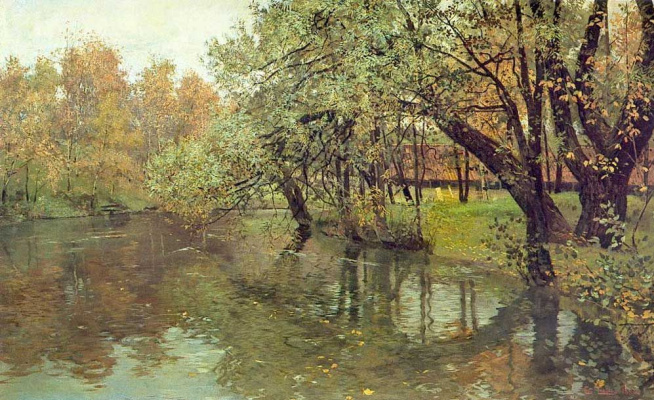Frits Thaulow. Christiania. Autumn day