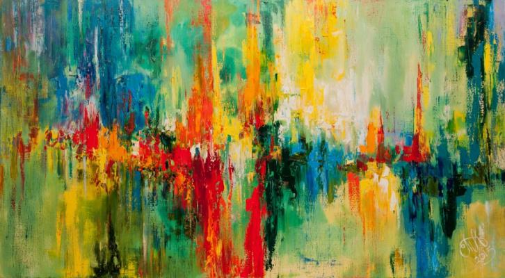 """Tanya Vasilenko. """"The pulse"""". Oil. Canvas. Pulse. Oil on Canvas."""
