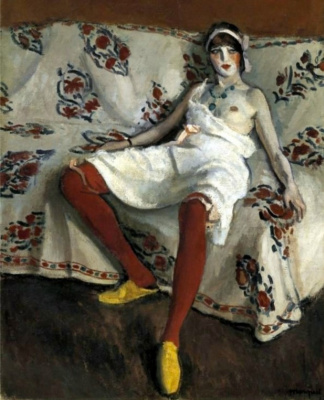 Albert Marquet. Red stockings