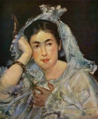 Edouard Manet. Portrait of Marguerite de Conflans in the hood